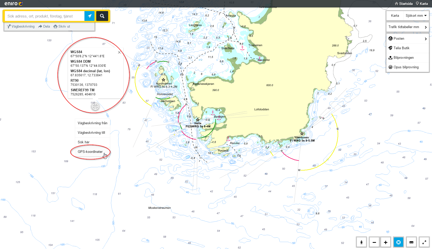 Seekarten Online