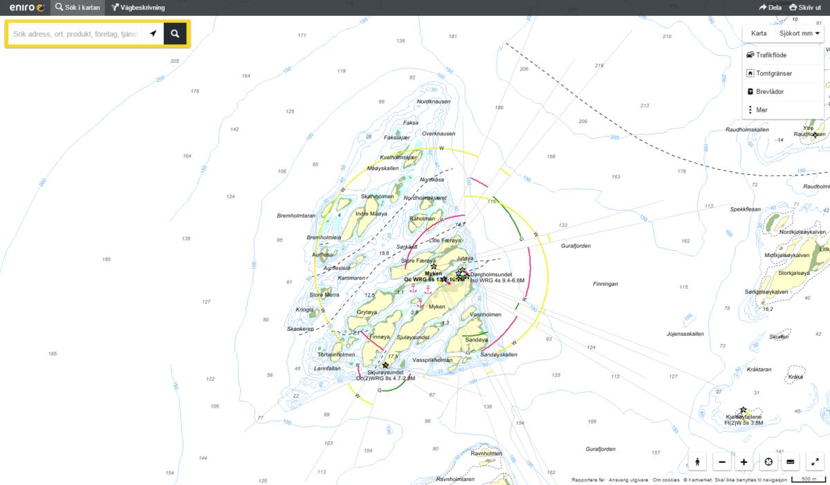 Seekarte Myken